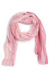 Nordstrom Women's Ombre Stripe Scarf Pink Combo