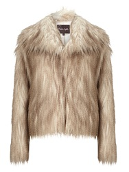 Phase Eight Zola Fur Jacket Neutral