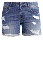 Superdry Steph Denim Shorts Authentic Mid Destroyed Denim
