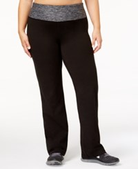 Ideology Plus Size Open Leg Yoga Pants Created For Macy's Noir