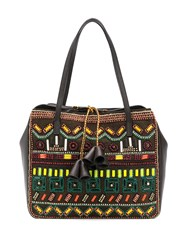 Etro Bead Embroidered Tote Brown