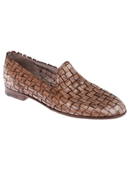 Premiata Intricately Woven Loafer Brown