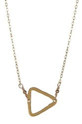 Charlene K 14K Gold Vermeil Triangle Pendant Necklace Metallic