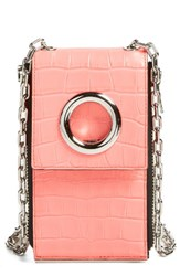 Alexander Wang Women's Riot Leather Wallet Bag Pink Fluo Coral