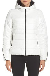 Adidas Women's Insulated Hooded Jacket Core White