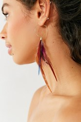 Urban Outfitters Ruxley Feather Hoop Earring Novelty