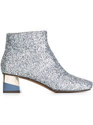 L'autre Chose Glitter Booties Metallic