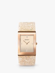 Sekonda 'S Seksy Crystal Rock Bracelet Strap Watch White Gold 2722