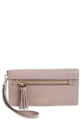 Kate Spade Women's New York 'Spencer Court Rae' Leather Wristlet Wallet Beige Mousse Frosting