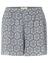 White Stuff Pretty Printed Shorts Aegean Blue