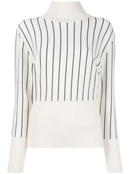 Jacquemus Striped Jumper Nude Neutrals