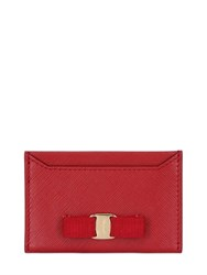 Salvatore Ferragamo Saffiano Leather Card Holder