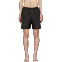 Gucci Black Gg Swim Shorts