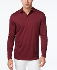 Tasso Elba Men's Performance Uv Protection Long Sleeve Polo Port