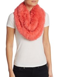 Yves Salomon Rabbit Fur Snood Guimauve