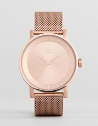 Adidas Z04 District Mesh Watch In Rose Gold Rose Gold