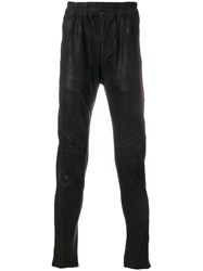 Julius Metallic Slim Fit Trousers Black