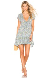 Auguste Ophelia Matilda Babydoll Mini Dress Blue