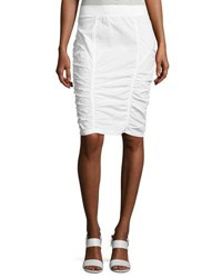Xcvi Parisa Ruched Pencil Skirt White