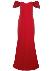 Badgley Mischka Off Shoulder Maxi Dress 60