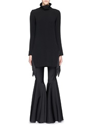 Ellery 'Super Creep' Fringe Hem Turtleneck Tunic Black