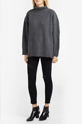 Sea Cashmere And Wool Blend Jumper Grey