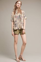 Anthropologie Tenley Roll Up Shorts Moss