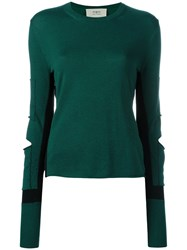 Ports 1961 Distressed Panel Jumper Green