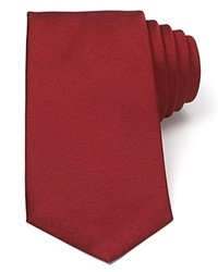 Turnbull And Asser Solid Rib Classic Tie Burgundy