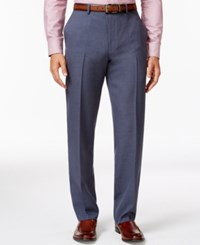 Alfani Red Steel Blue Flat Front Pants Only At Macy's
