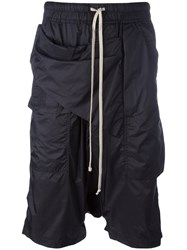 Rick Owens Drkshdw Drop Crotch Shorts Black
