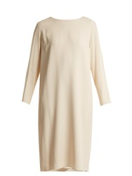 The Row Larina Crepe Tunic Dress Cream
