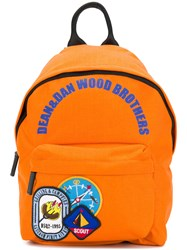 Dsquared2 Badge Patch Backpack Yellow And Orange