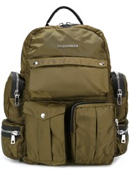 Dsquared2 'Utilitary' Backpack Green