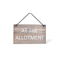 Garden Trading Wooden Hanging Sign 'At The Allotment'