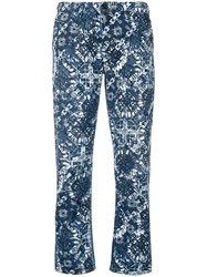 Diesel Black Gold Straight Jeans With Printed Pattern Blue
