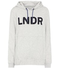 Lndr College Cotton Blend Hoodie Grey