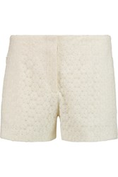 Joseph Wren Embroidered Tulle Shorts White