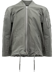 08Sircus Drawstring Bomber Jacket Green