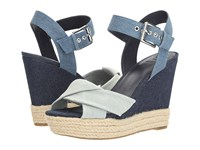Guess Sanda Blue Women's Wedge Shoes