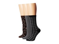 Sperry Leopard Black Women's Crew Cut Socks Shoes