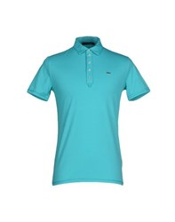 Guess By Marciano Topwear Polo Shirts Men Turquoise