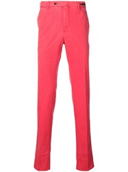Pt01 Canvas Slim Fit Trousers Red