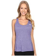 New Balance Heathered Jersey Tank Top Titan Heather Women's Sleeveless Purple