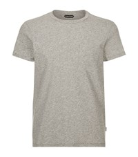 Tom Ford Cotton Pocket T Shirt Male Grey