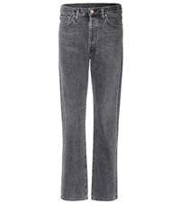 Gold Sign The Benefit High Rise Straight Jeans Blue