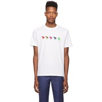 Paul Smith Ps By White Zebra Repeat T Shirt
