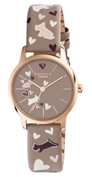 Radley Women's Love My Dog Leather Strap Watch Taupe