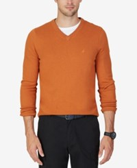 Nautica Men's Big And Tall V Neck Sweater Tanglo Heather