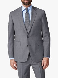 Chester Barrie By Traveller Wool Textured Tailored Suit Jacket Grey